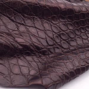 Кожа крокодила, коричневая- kr-110
