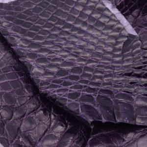 Кожа каймана, фиолетовая- kr-114