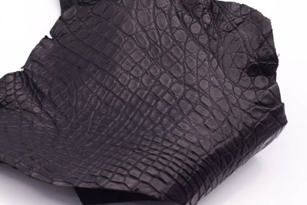 Кожа крокодила, черная- kr-123