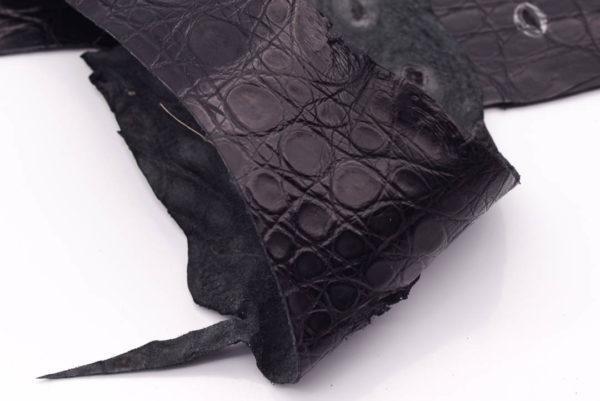 Кожа крокодила, черная- kr-126