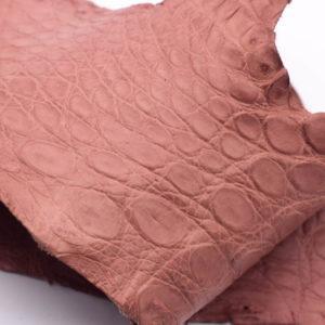 Кожа крокодила, розовая- kr-131