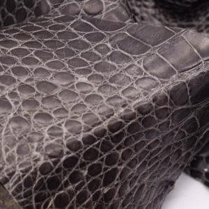 Кожа крокодила, серый хаки- kr-135