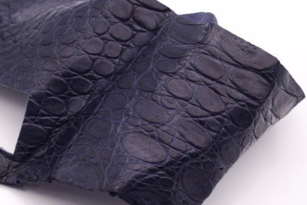 Кожа крокодила, синяя- kr-136