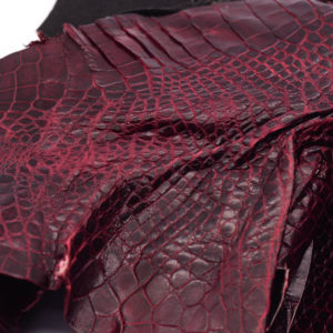 Кожа крокодила, бордовая- kr-139
