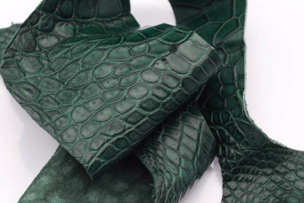 Кожа крокодила, зеленая- kr-147