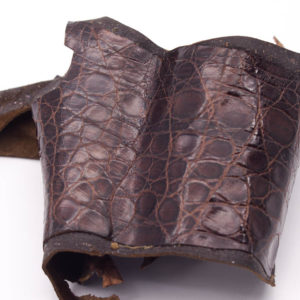 Кожа крокодила, коричневая- kr-148