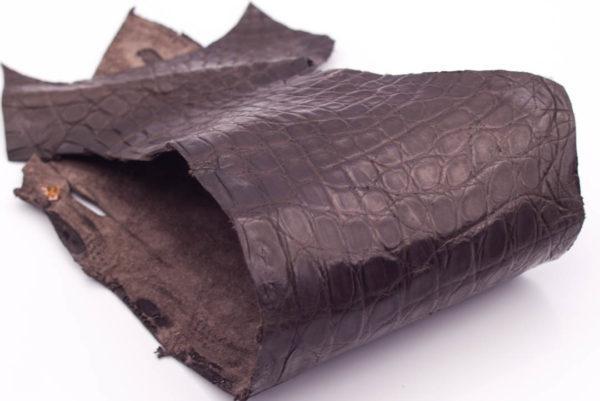 Кожа крокодила, темно-коричневая- kr-149