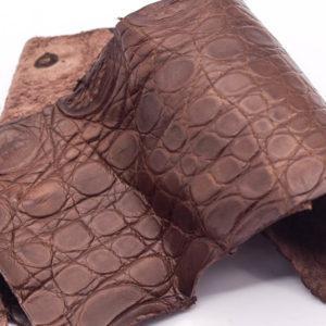 Кожа крокодила, коричневая- kr-151