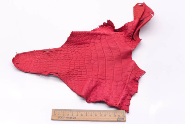 Кожа крокодила, малиновая- kr-156