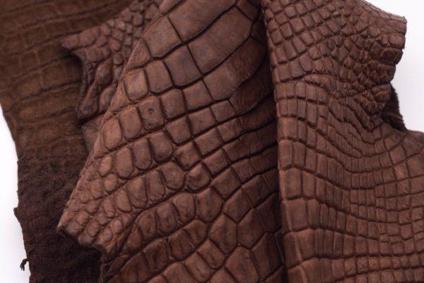 Кожа крокодила, светло-коричневая- kr-164