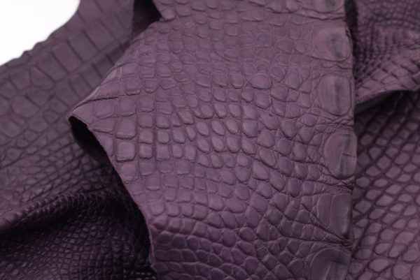 Кожа крокодила, серо-сиреневая- kr-165