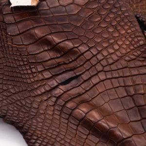 Кожа крокодила, коричнево-коньячная- kr-176