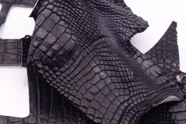 Кожа крокодила, темно-серая- kr-179