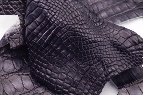 Кожа крокодила, темно-серая- kr-178