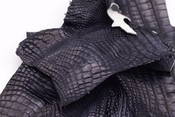 Кожа крокодила, темно-серая- kr-182