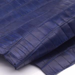 Кожа кроко, синяя, 37х23 см.- kr-66