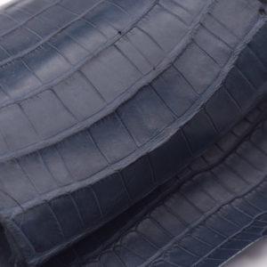 Кожа кроко, серо-синяя, 42х22 см.- kr-70