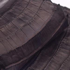 Кожа кроко, темно-коричневая, 44х15 см.- kr-72