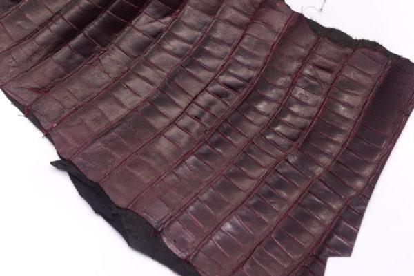 Кожа кроко, марсала, 65х25 см.- kr-73