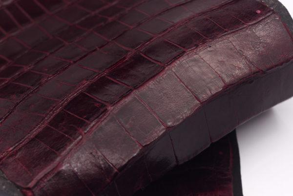 Кожа кроко, марсала, 44х24 см.- kr-74