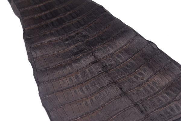 Кожа каймана, темно-коричневая, 53х31 см.- kr-76