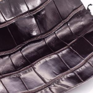 Кожа крокодила, темно-коричневая- kr-85