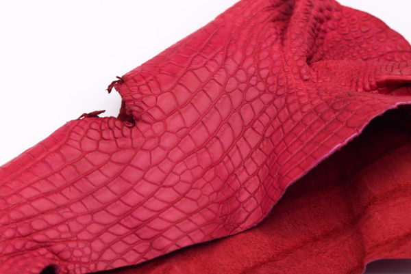 Кожа крокодила, розово-малиновая- kr-90