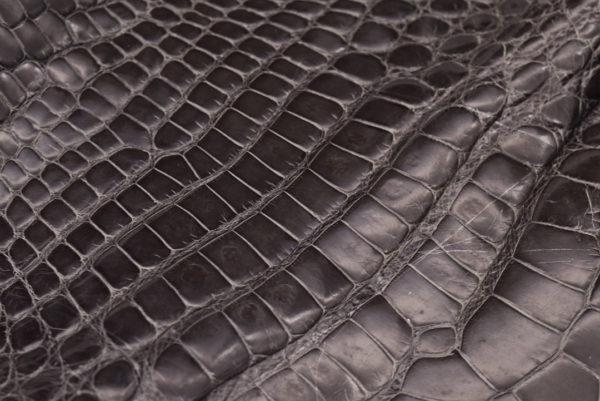 Кожа крокодила, серый хаки- kr-93