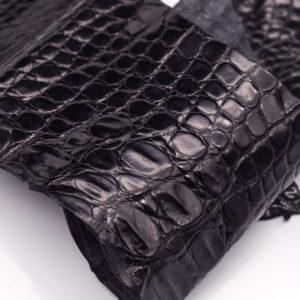 Кожа крокодила, черная- kr-96