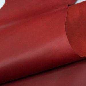 Кожа КРС крейзи хорс (Crazy Horse) с эффектом пул ап (Pull Up), красная, 147 дм2.-D1-38