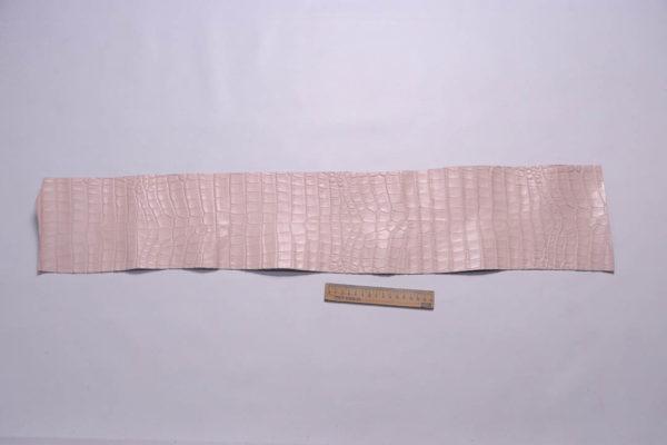 Кожа КРС с тиснением под кроко, розовая, Tuscania S.p.A. -109457