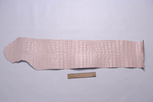 Кожа КРС с тиснением под кроко, розовая, Tuscania S.p.A. -109461