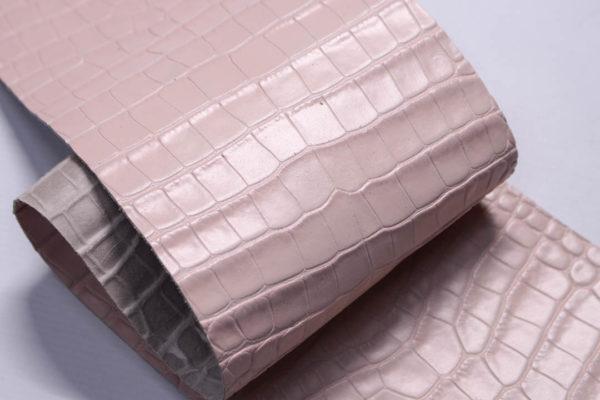 Кожа КРС с тиснением под кроко, розовая, Tuscania S.p.A. -109462