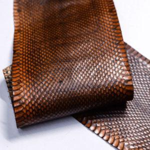 Кожа змеи, коричневая, 91х12,5 см.-zm4-119