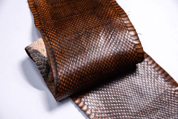 Кожа змеи, коричневая, 100х12 см.-zm4-130