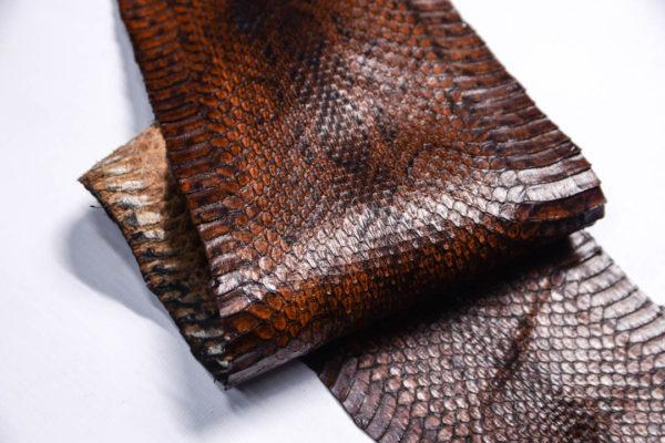 Кожа змеи, коричневая, 89х14 см.-zm4-151
