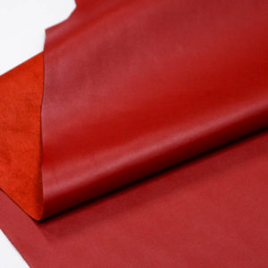 Кожа КРС, красная, 155 дм2.-D1-65