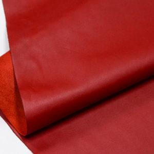 Кожа КРС, красная, 173 дм2.-D1-66