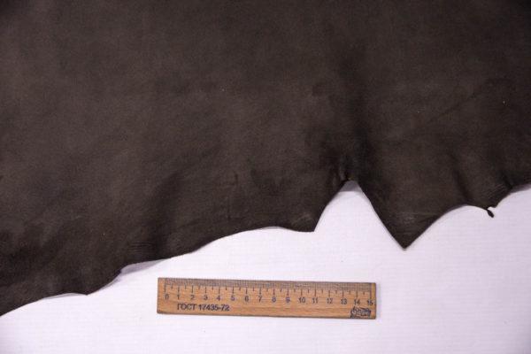 Велюр МРС (коза), темно-серый хаки, 29 дм2, Conceria Gaiera GIOVANNI S.p.A. -109494