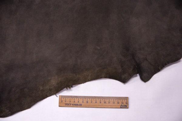 Велюр МРС (коза), темно-серый хаки, 30 дм2, Conceria Gaiera GIOVANNI S.p.A. -109495