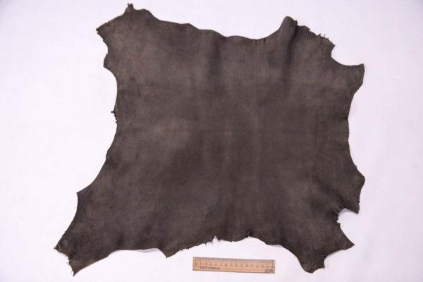 Велюр МРС (коза), темно-серый хаки, 30 дм2, Conceria Gaiera GIOVANNI S.p.A. -109499