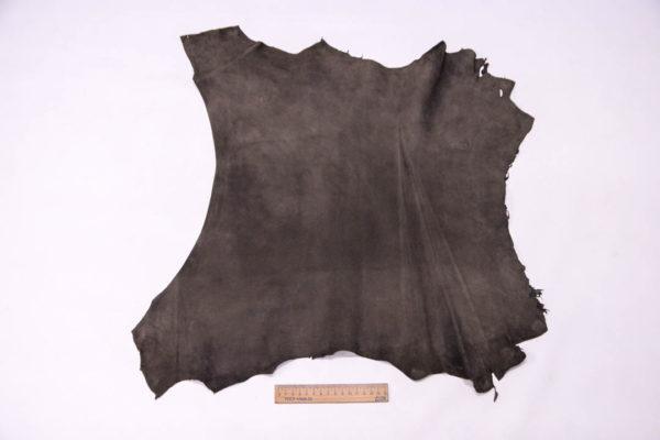 Велюр МРС (коза), темно-серый хаки, 30 дм2, Conceria Gaiera GIOVANNI S.p.A. -109500