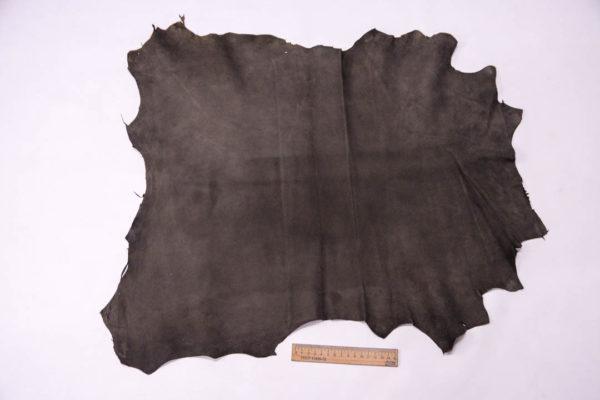 Велюр МРС (коза), темно-серый хаки, 34 дм2, Conceria Gaiera GIOVANNI S.p.A. -109502
