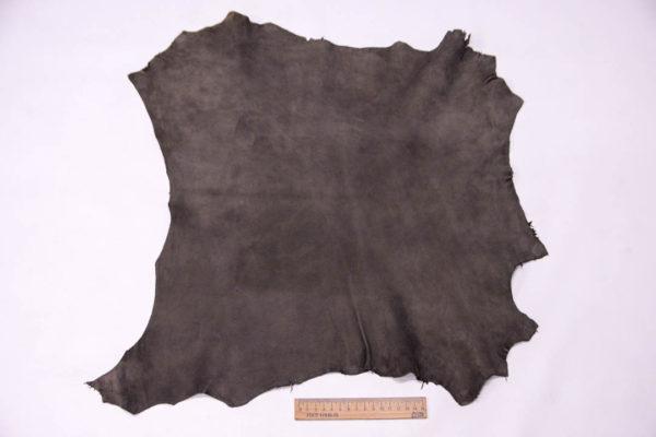 Велюр МРС (коза), темно-серый хаки, 26 дм2, Conceria Gaiera GIOVANNI S.p.A. -109504