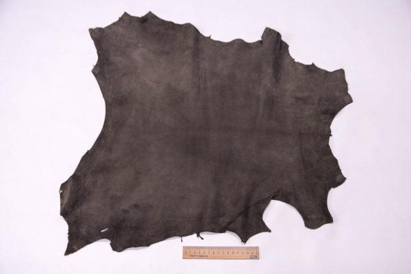 Велюр МРС (коза), темно-серый хаки, 30 дм2, Conceria Gaiera GIOVANNI S.p.A. -109505
