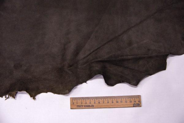 Велюр МРС (коза), темно-серый хаки, 30 дм2, Conceria Gaiera GIOVANNI S.p.A. -109507
