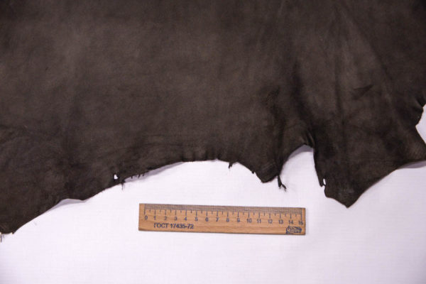 Велюр МРС (коза), темно-серый хаки, 29 дм2, Conceria Gaiera GIOVANNI S.p.A. -109509