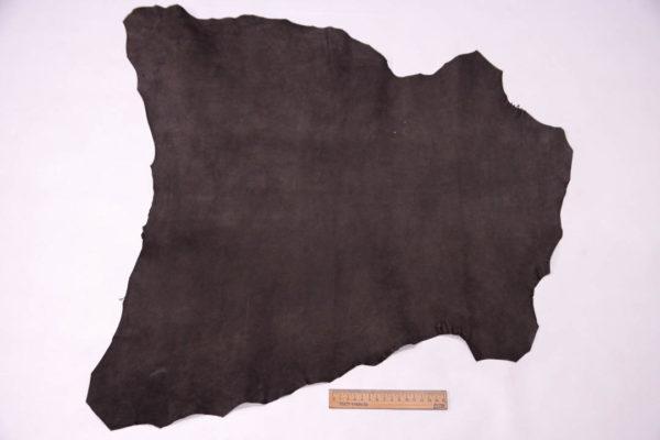Велюр МРС (коза), темно-коричневый, 38 дм2. -109515