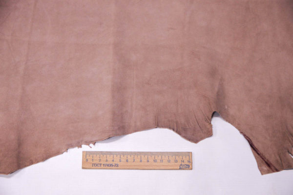 Велюр МРС (коза), грязно-розовый, 40 дм2. -109517