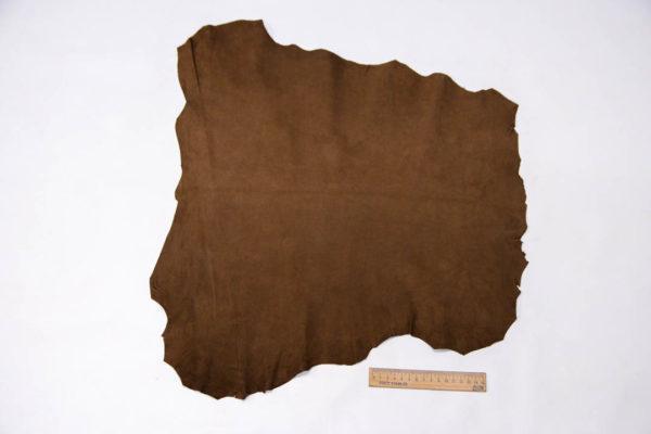 Велюр МРС (коза), коричневый, 26 дм2. -109521